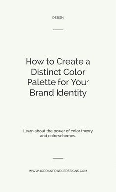 How to create a distinct color palette for your brand identity Triangles, Branding Your Business, Business Tips, Corporate Branding, Logo Branding, Branding Design, Logo Design, Graphic Design, Branding Ideas