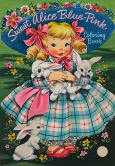 Graphic Collectibles offers illustration art for sale! We have original movie poster art, vintage movie poster art, and movie poster paintings! Vintage Coloring Books, Vintage Children's Books, Vintage Ephemera, Alice Blue, Kitsch, Arte Horror, Painted Books, Vintage Paper Dolls, Little Golden Books