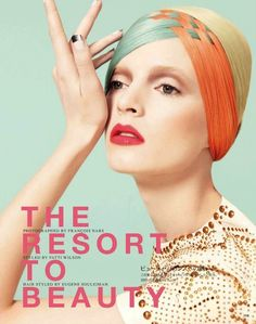 Daria Strokous photographed by Francois Nars for Vogue Japan...perfect lip color, non?