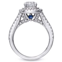 Vera Wang engagement ring, love the blue sapphires!!!!!! #something blue (: