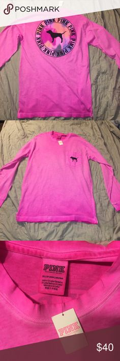New vs Pink Top New with tags Extra small  Pink Victoria's Secret  Long sleeve top  Pink dog logo PINK Victoria's Secret Tops