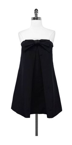 Milly Black Cotton Blend Mini Dress