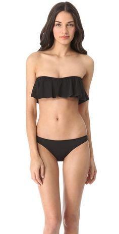 eberjey ruffle bikini top