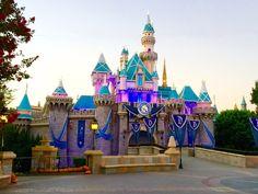 Disneyland Castle on 60th Anniversary