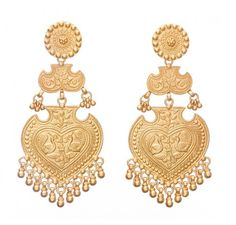 SKU-RPSE07118-Gold plated sterling earring made with peacock motifs