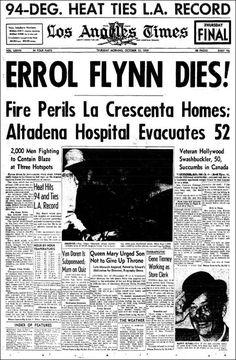 Errol Flynn Dies