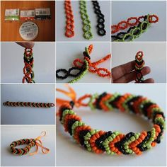 Triple Braided Beaded Bracelet - general photo tutorial  . . .  ღTrish W ~ http://www.pinterest.com/trishw/  . . . #handmade #jewelry #beading