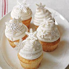 Snowflake cupcakes! ❄❄