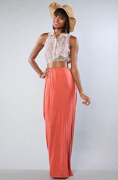 Obey The Dream State Maxi Skirt in Tandoori Spice : Karmaloop.com - Global Concrete Culture