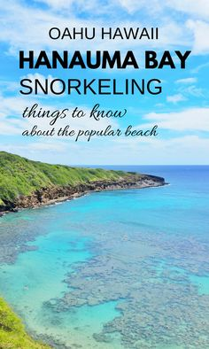 Best beaches for snorkeling in Oahu include Hanauma Bay. These are Hawaii travel tips. For US beaches in Oahu Hawaii, there are activities like swimming and snorkeling with turtles and fish! Best Oahu beaches give you things to do with nearby hiking trail Best Island Vacation, Oahu Vacation, Vacation Ideas, Visit Hawaii, Oahu Hawaii, Hawaii 2017, Tonga, Beach Honeymoon Destinations, Travel Destinations