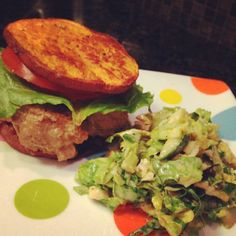 Jalapeno Turkey Burgers with Brussels Sprout Slaw