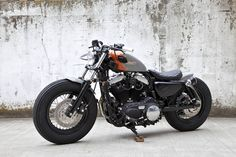 Custom Sportster Forty Eight, by Hide Motorcycles