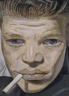 Boy Smoking, c. 1951-1952 by Lucien Freud