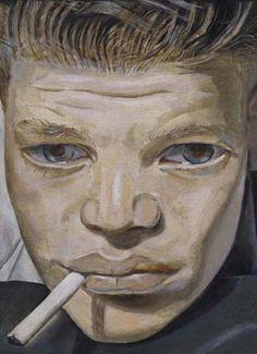 Boy Smoking, c. 1951-1952 by Lucien Freud