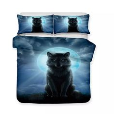 Wholesale-3d Wolves Bed Sets Wolf Theme Luxury Queen King Bedding Set Wolves Bedding Sets 3pcs Colorful Bedding Wholesale Wolf Theme 3d Art Luxury 3pcs Bedding Set Online with $67.76/Piece on Beddingsets3d's Store | DHgate.com 3d Bedding Sets, Bedding Sets Online, Linen Bedding, Duvet Cover Sizes, Duvet Covers, Wolf 3d, Colorful Bedding, White Duvet, Bedclothes