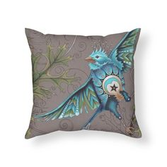 Ruby Charm Colors Little Bird Home Throw Pillow available in 5 sizes - adorable on your favorite couch or chair!