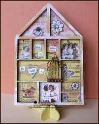 And as the fabulous Joanne Wardle (of Craft Stamper fame) has recently posted a simply beautiful card using our new 'Elements' rubber stam. Seashell Shadow Boxes, Wooden Shadow Box, Letterpress Drawer, Apothecary Decor, Printers Drawer, Painted Vans, Tray Styling, Unique Coffee Table, Farmhouse Christmas Decor