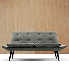 Morgan. Miami Sofas  332 in Charcoal. The sofa has an elegant slim profile but also generous seat cushions to ensure Morgan's standards of comfort.