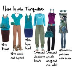 How to Mix Turquoise, created by imogenl.polyvore.com