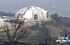 This concrete dome home survived a wall of flames without a sc...