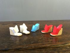 1970's Mod Vinyl Barbie Wedge Shoes / Korea / by JadeAndLorenJR