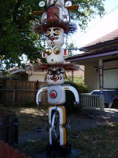 Interesting yard art seen in Walsenburg, Colorado.