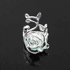 Charming 3D Sterling Silver Flower vine Rings get yours at www.godisjewelz.com