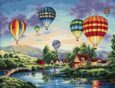 Dimensions Needlecrafts Counted Cross Stitch, Balloon Glow.