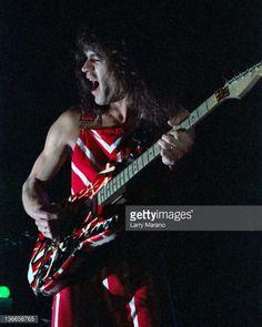 Eddie Van Halen of Van Halen performs on the Diver Down tour at Madison Square Garden circa 1982 in New York, New York.