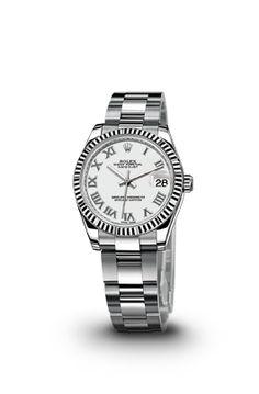 RELOJ DATEJUST LADY 31 EN ACERO Y ORO BLANCO - Relojes ROLEX #rolex #relojesrolex #rolexmujer