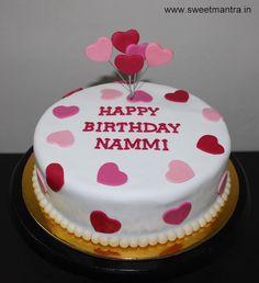 Valentine, Anniversary, Love theme small customized designer birthday cake for fiancee at Bavdhan, Pune