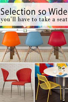 Make meal time fun with bright, comfortable, stylish seating. From mid-century barstools with classic cuts to vibrant, plush seating for an eclectic look, we have selection so wide you'll have to take a seat to believe it. Visit AllModern today and sign up for exclusive access to deals for your modern home. Free shipping on orders over $49!