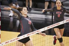 The sophomore middle blocker from Toulouse, France is leading the Rebels in…