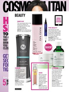 Avon ANEW Power Serum was featured in @Cosmopolitan's iPad edition as a great serum to help keep you looking young.