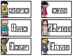 Word Wall Cards: Numbers, Colors, and Months Journeys Kindergarten, Kindergarten Teachers, Teaching Kindergarten, Teaching Reading, Kindergarten Literacy, Teaching Ideas, Learning, School Tool, School Fun