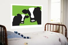 Green Cows Giant Art Print at AllPosters.com