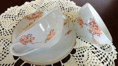 Fukagawa Arita Teacup and Saucer Set 2 by SucresDaintyDish on Etsy, $13.99