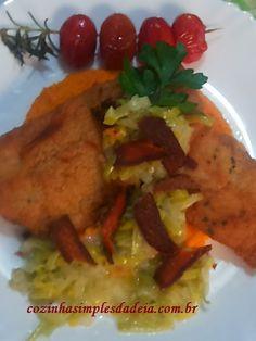 Cozinha Simples da Deia: Linguado com purê de cenoura, alho poró e bottarga