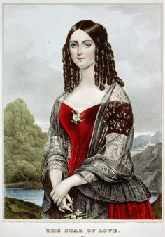 Currier, The Star of Love, (source). Vintage Love, Vintage Ladies, Hipster Design, Romantic Paintings, Classic Girl, Miniature Portraits, 18th Century Fashion, Female Profile, Woman Painting