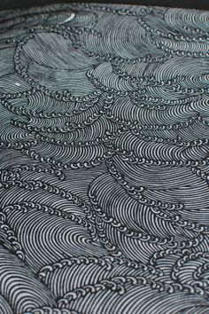 waves stencil cutting, Kyoto