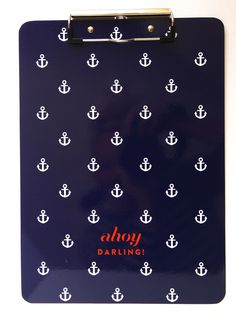 Nautical Anchor Print Clipboard. via Etsy.