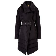 Buy Phase Eight Wrap Neck Padded Coat, Black from our Women's Coats & Jackets range at John Lewis & Partners. Phase Eight, Mod Fashion, Neck Wrap, Women Wear, Jackets, Clothes, Europe Train, Hooded Coats, Train Travel