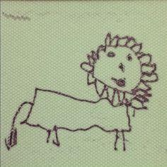 娘の絵「ライオン」 やさしそう。 わずかだが着実に進歩している。 - @kazzen- #webstagram