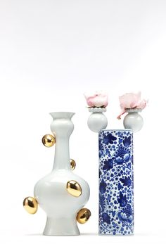 Series of vases 'Delft Blue' Marcel Wanders for Mooi, 2008