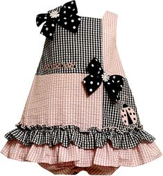 Bonnie Jean Baby/Infant Pink Blue Ladybugs and Bows Checkered Color Block Seersucker Spring Summer Party Dress Little Dresses, Little Girl Dresses, Cute Dresses, Girls Dresses, Baby Dresses, Toddler Dress, Toddler Outfits, Kids Outfits, Seersucker Dress
