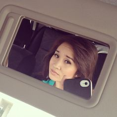 Who needs full length mirrors when you have the convenience of one in your car. On the go is so much more efficient, just like Cathy Nguyen! Just make sure you don't snap pics and drive!