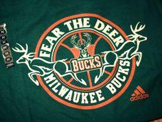 Fear the Deer Milwaukee Bucks Logo