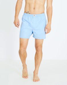 Boxershorts Classic Hellblau aus Biobaumwolle #vegan #veganemode #veganfashion #fairfashion Casual Shorts, Classic, Shopping, Women, Fashion, Vegan Fashion, Boxer, Cotton Textile, Light Blue