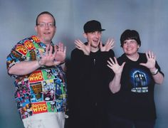 """Us with Robin Lord Taylor. a.k.a. the Penguin from TV's """"Gotham"""". Motor City Comic Con 2017."""