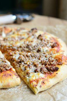 Homemade Lasagna Pizza | from willcookforsmiles.com